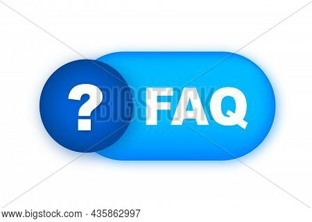 Frequently Asked Questions Faq Banner. Speech Bubble With Text Faq. Vector Stock Illustration