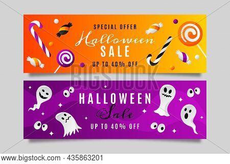 Gradient Halloween Sale Banners 2