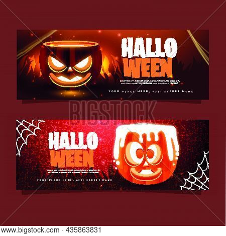 Realistic Halloween Banners  01