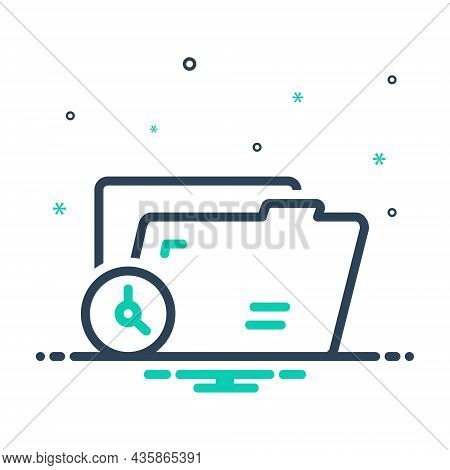 Mix Icon For Temporary Changeable Transitory Archive Format Document Editable