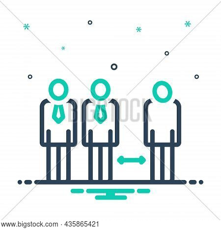 Mix Icon For Discrimination Distance Nepotism Differentiation Partiality Partisanship People