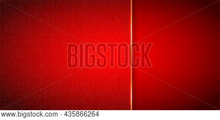 Abstract Shiny Red Background With Gently Dot Texture And Place For Text - Vector Illustration