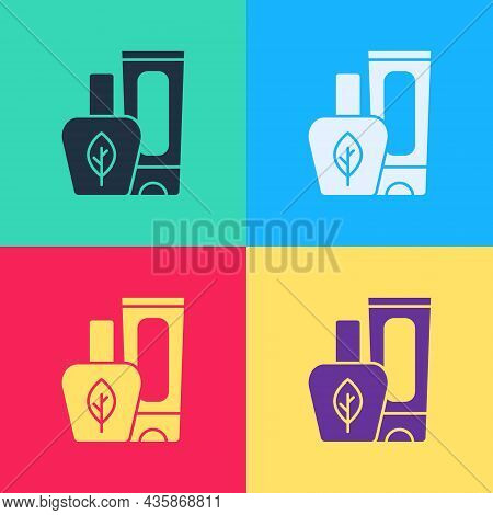 Pop Art Ointment Cream Tube Medicine Icon Isolated On Color Background. Tube, Container, Toothpaste,