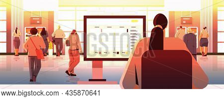 Businesswoman Using Agenda On Computer Monitor Time Management Organization At Work Concept Office I