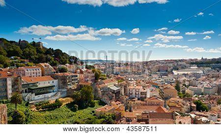 Sao Jorge Castle And Baixa Panoramic