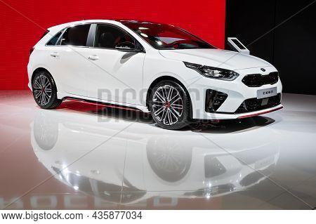 Kia Proceed Car Showcased At The Paris Motor Show. Paris, France - October 2, 2018.