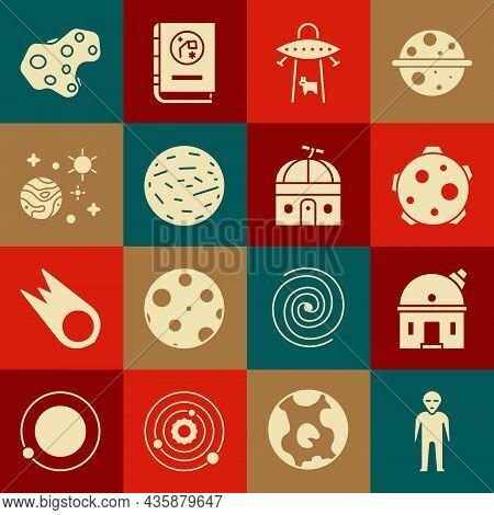 Set Alien, Astronomical Observatory, Planet, Ufo Abducts Cow, Venus, Space And Planet, Asteroid And