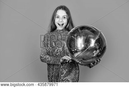 Shine Bright Like Diamond. Silver Decor. Metallic Shining. Birthday Girl. Happy Child Celebrate Birt