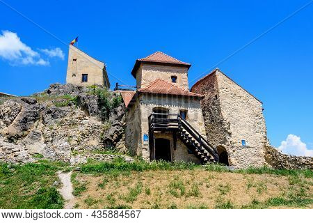Rupea Citadel (cetatea Rupea) After Renovation In Brasov County, In The Southern Part Of Transylvani