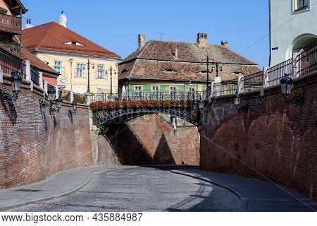 The Bridge Of Lies (podul Minciunilor) Near The Small Square (piata Mica) In The Historical Center O