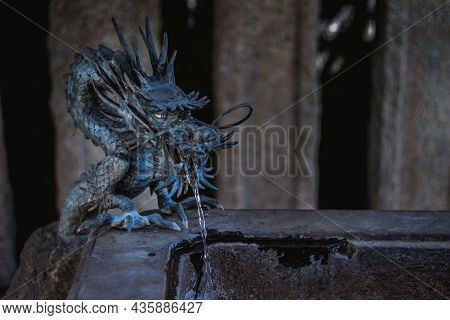 A Photo Of A Dragon Statue Found In A Japanese Temple People Would Come To The Statue And Wash Their