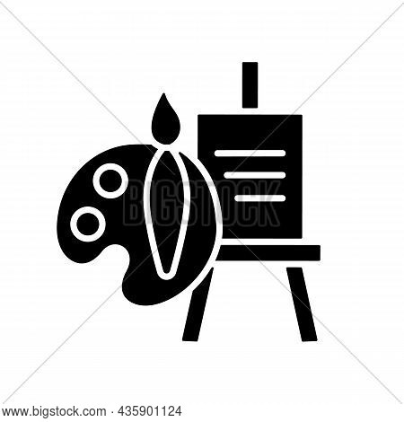 Painting Talent Black Glyph Icon. Ability To Draw Beautiful Pictures. Tools For Artist. Paintbrush A