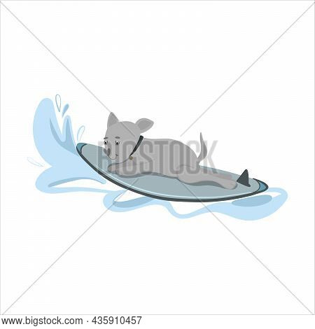 Dog Care Product, Dog Shampoo. Doodle Vector, Stock Illustration Hand Drawn In Flat Style, Isolated
