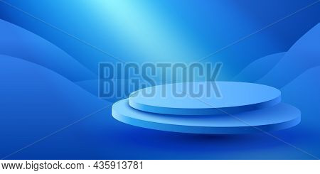 Abstract Scene Background. Product Presentation, Mock Up, Show Cosmetic Product, Podium, Stage Pedes