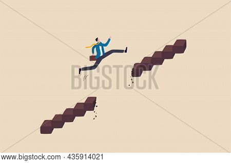 Overcome Difficulty Or Obstacle To Grow Career Path, Challenge And Risk To Success And Win Business