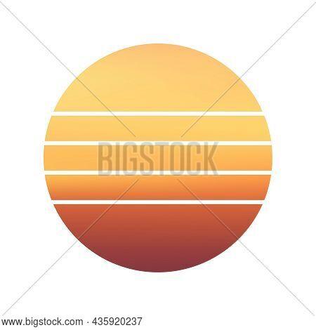 Design Of Sunset Striped Background. Sunset Striped Backdrop. Sunrise Vintage Wallpaper.