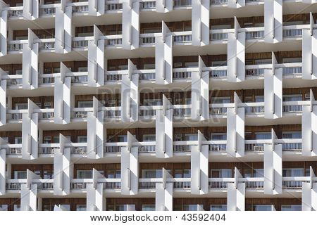 The Facade Of A Multi-storey Buildings.