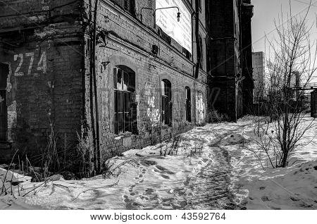 ?ld abandoned factory.