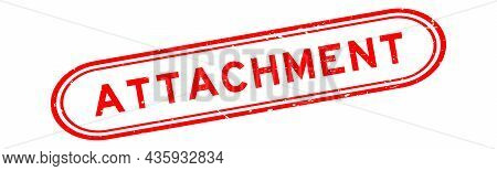 Grunge Red Attachment Word Rubber Seal Stamp On White Background