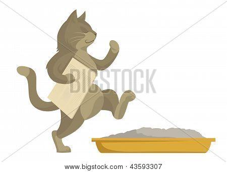 Cat Goes In Toilet