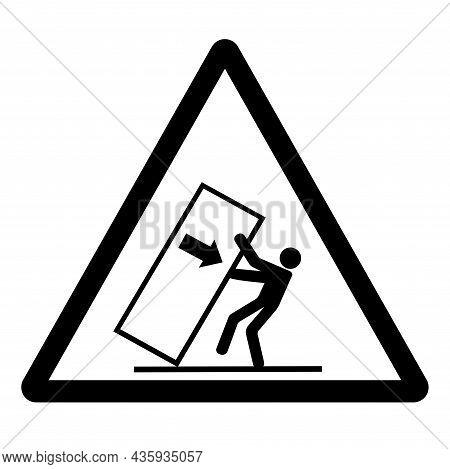 Body Crush Tip Over Hazard Symbol Sign, Vector Illustration, Isolate On White Background Label .eps1