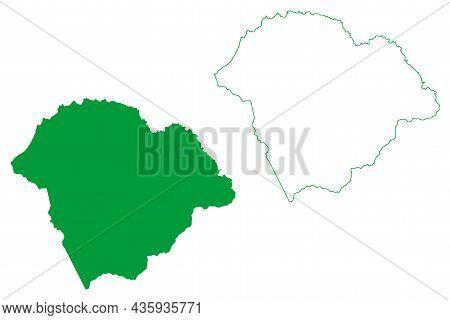 Itaberaba Municipality (bahia State, Municipalities Of Brazil, Federative Republic Of Brazil) Map Ve