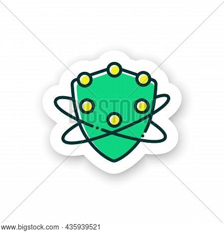 Complement System Sticker Icon. Complement Cascade. Immune System Concept. Immunology Badge For Desi