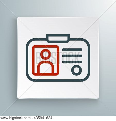 Line Taxi Driver License Icon Isolated On White Background. Colorful Outline Concept. Vector