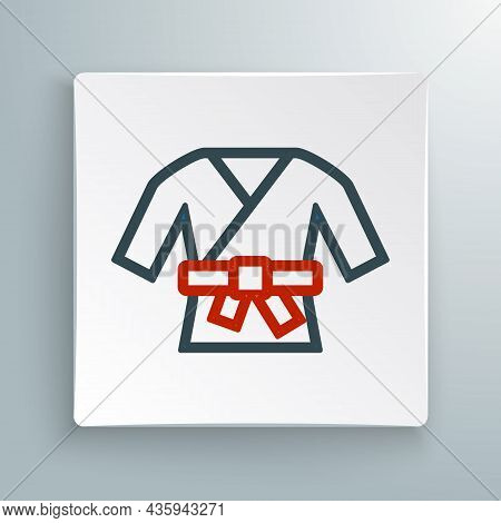 Line Kimono Icon Isolated On White Background. Chinese, Japanese, Korean, Vietnamese Wearing Nationa