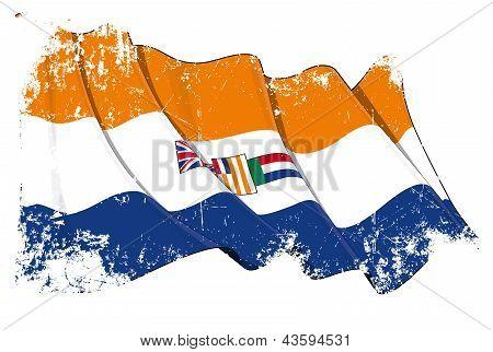 South Africa 1928-1994 Flag Grunge