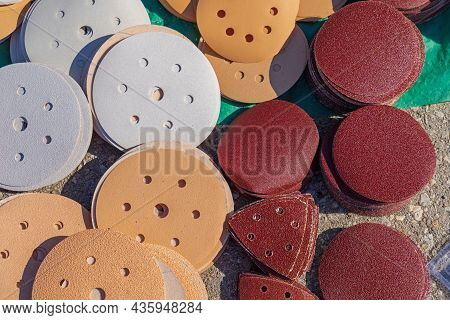 Sanding Pads Abrasive Disc Various Shape And Size Selection