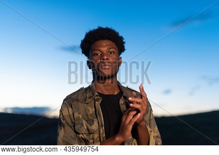 Portrait Of An African Young Man With Confident Attitude