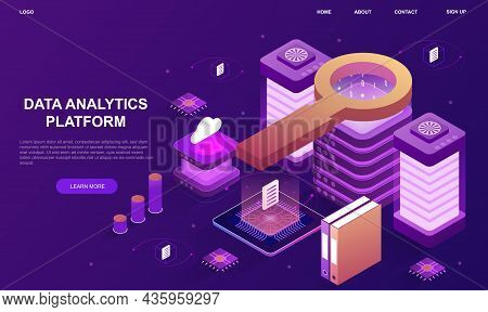 Data Analytics Platform. Schemes Of Work Of Hosting Servers. Information Storage, Personal Data. Net