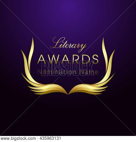 Literary Awards Creative Logo Concept. Isolated Abstract Graphic Design Template. Elegant Nominee Em