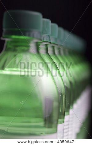 Row Of Green Bottles