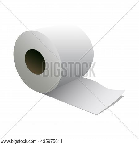 Toilet Paper Roll Icon. Sanitary Tissue Roll Symbol Isolated On White Background. Vector Illustratio