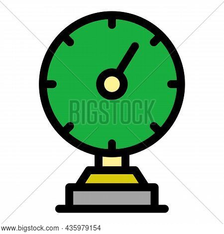 Mechanical Gauge Icon. Outline Mechanical Gauge Vector Icon Color Flat Isolated