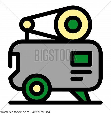 Air Compressor Equipment Icon. Outline Air Compressor Equipment Vector Icon Color Flat Isolated
