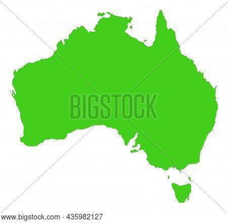 Vector Australia Map Illustration. An Isolated Illustration Of Australia Map.