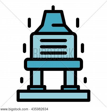 Charge Station Icon. Outline Charge Station Vector Icon Color Flat Isolated