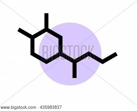 Adrenaline Chemical Formula Icon Or Logo. Neurotransmitter And Human Hormones In Brain, Medical Post