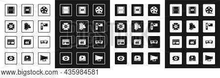 Set Film Reel, Camera Vintage Film Roll Cartridge, Movie Spotlight, Play Video, Cinema Camera, 4k Mo