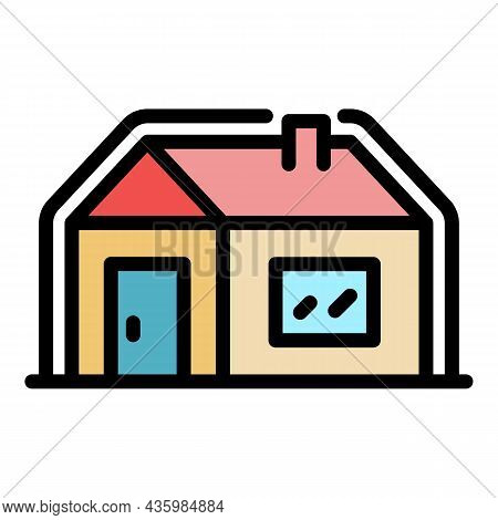 Insulated House Icon. Outline Insulated House Vector Icon Color Flat Isolated