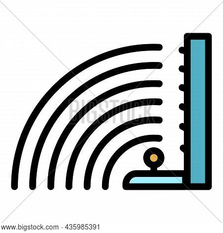 Sound Volume Waves Icon. Outline Sound Volume Waves Vector Icon Color Flat Isolated
