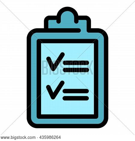 Running Mission Clipboard Icon. Outline Running Mission Clipboard Vector Icon Color Flat Isolated