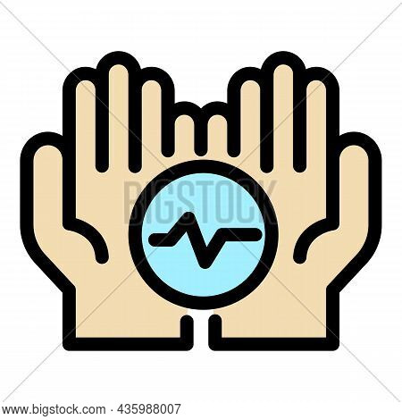 Keep Care Health Icon. Outline Keep Care Health Vector Icon Color Flat Isolated