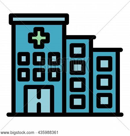 Sport Medical Hospital Icon. Outline Sport Medical Hospital Vector Icon Color Flat Isolated