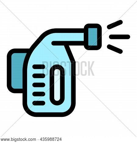 Steam Cleaner Icon. Outline Steam Cleaner Vector Icon Color Flat Isolated