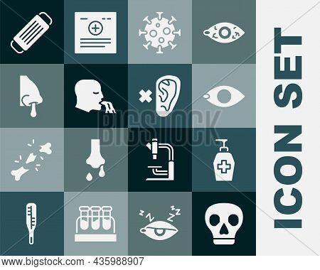Set Skull, Liquid Antibacterial Soap, Blindness, Virus, Vomiting Man, Runny Nose, Medical Protective