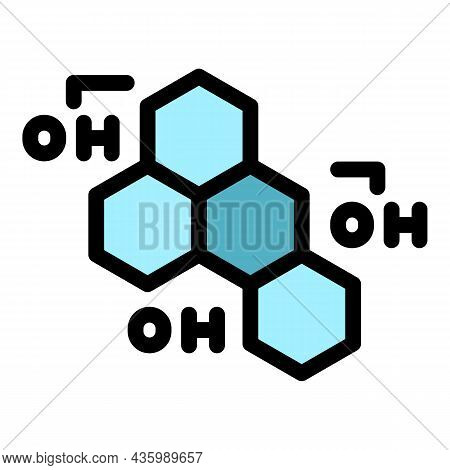 Oh Hormones Icon. Outline Oh Hormones Vector Icon Color Flat Isolated